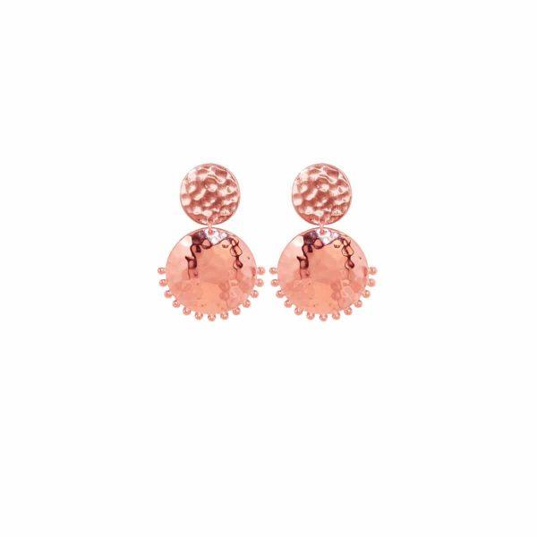 Murkani Tribal Stud Earrings in Rose Gold