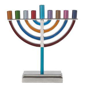 Yair Emanuel Large Classic Hanukkah Menorah - Multicolor